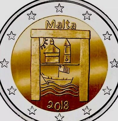 Malta 2€ Euro Coin 2018 Commerative Cultural Heritage New UNC From Roll (300k Mi