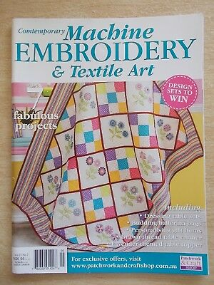 Machine Embroidery & Textile Art Vol 22 #7~Quilt~Ballerina~Quilting In The Round