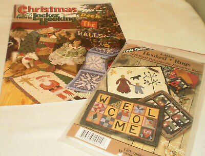 Christmas Locker Hooking pattern book-k.Carpenter and Little Hooked Rugs Pattern