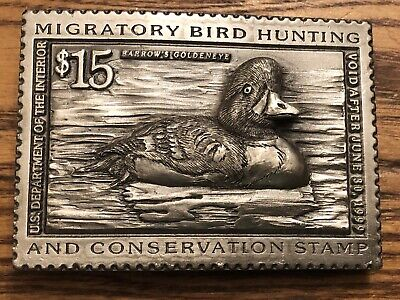 "Vintage ""Migratory Duck Stamp"" Belt Buckle, 1999,Lot 29"