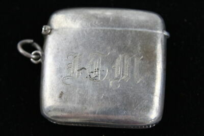 Antique Hallmarked 1903 Birmingham Sterling Silver VESTA Case / Lighter (46g)