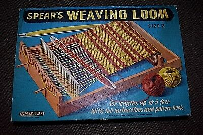 Vintage SPEARS Weaving Loom SIZE 2 IN BOX
