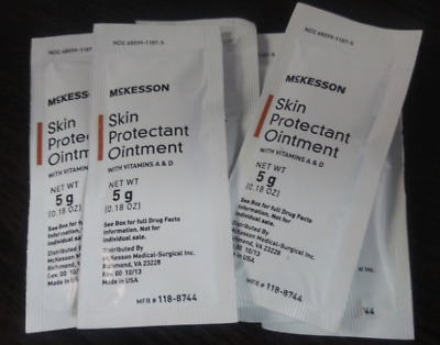 Mckesson Skin Protectant Cream INDIVIDUAL Travel Packets For VERY Dry Skin 08/21