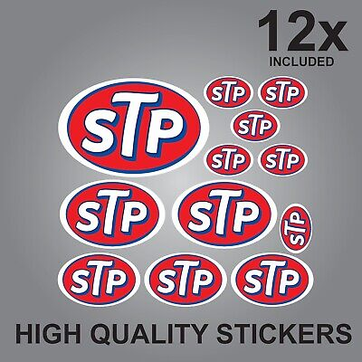 12X Stp Sticker Sheet Set Quality Printed Stickers Decals Graphics Oil Lubricant