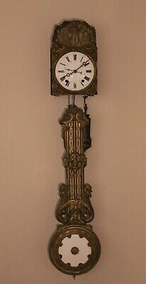 19th Century French Antique Comtoise Wall Clock