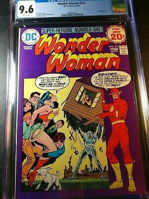 1974 DC Wonder Woman #213 CGC 9.6 WP - Flash appearance