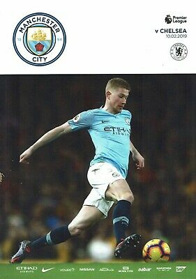Manchester City v Chelsea 10th February 2019 Official Matchday Programme 2018/19
