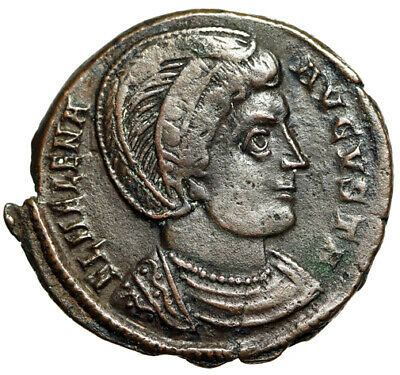 "MOTHER OF CONSTANTINE Roman Coin of Helena ""Security of Republic"" CERTIFIED VF"