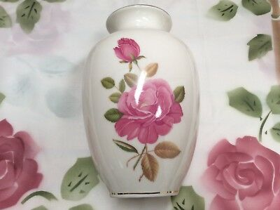 Vintage Fine China Vase – Made in Germany – Rose design - Victoria Brand