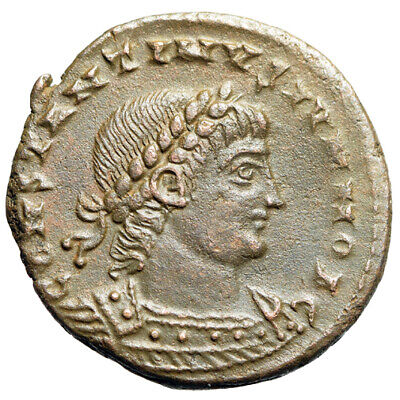 "RARE Roman Coin of Constantine II as Caesar ""War Type, Soldiers"" Alexandria EF"