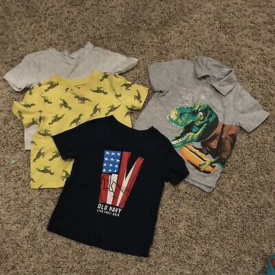 Baby Boys Short Sleeve Tee Bundle Lot Size 18-24 Months Old Navy Childrens Place