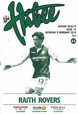 Hibernian v Raith Rovers 9th February 2019 Scottish Cup Matchday Programme 18/19
