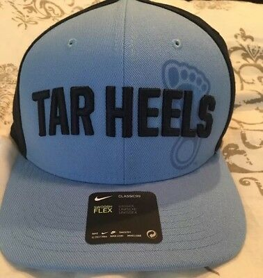 UNC North Carolina Tar Heels Nike Dri-Fit Swoosh Flex Blue Black Hat Cap New ba67bba7fc50