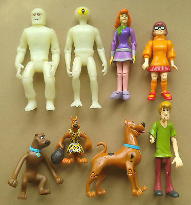 SCOOBY-DOO - 8 Action Figures - Joblot Bundle - shaggy - daphne - velma ++