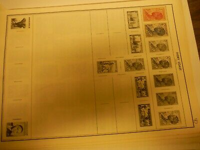 WPPhil Ivory Coast Mint And Used Stamps Accumulation Approx. 40+ Total