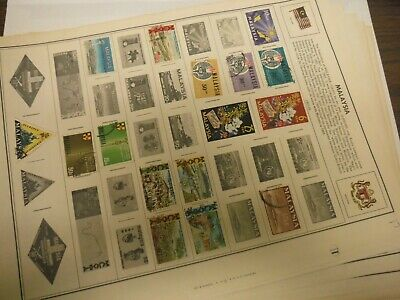WPPhil Malaysia Mint And Used Stamps Accumulation Approx. 170+ Total