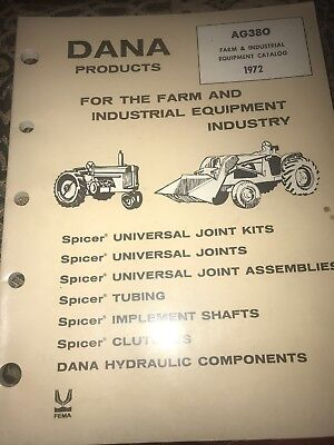 Vintage Dana Products Farm And Industrial Equipment Catalog 1972