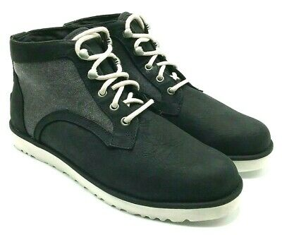 c81ed59384e UGG BETHANY WOMANS Leather Canvas Winter Shearling Lined Ankle Boot Black  US 8,5