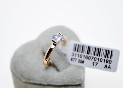 100% Brand New Genuine 18K Rose Gold 1.25 ct Engagement Eternity Ring size 6