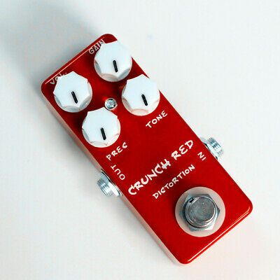 MOSKY CRUNCH RED Distortion Guitar Effect Pedal Metal Shell True Bypass