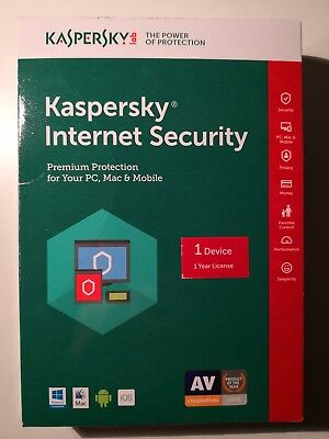 Kaspersky Internet Security - 1 Device 1 Year License, Free Upgrade 2019
