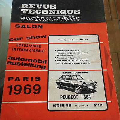 Revue Technique AUTO RTA 1969 PEUGEOT 504 1.8 Carburateur / OPEL REKORD SPRINT