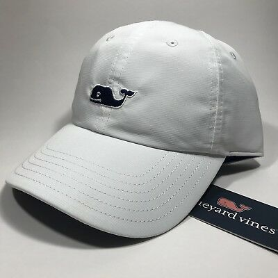 2d90affe5a0 Vineyard Vines Whale Performance Baseball Hat.White Cap.OS.NWT.MSRP 36.00