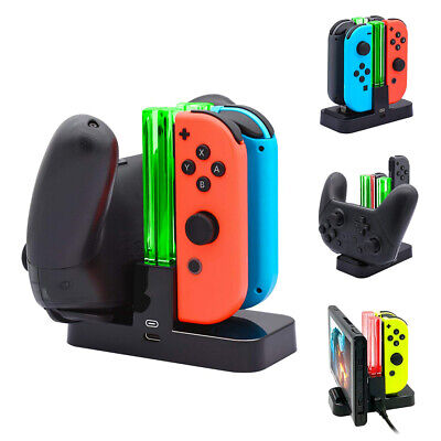 4 Ports Controller Charger Charging Dock Station For Nintendo Switch Joy-Con Pro