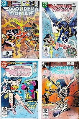 Lot of 4 Wonder Woman #296,298,299,301 Bronze Age DC Comics Most VF see details