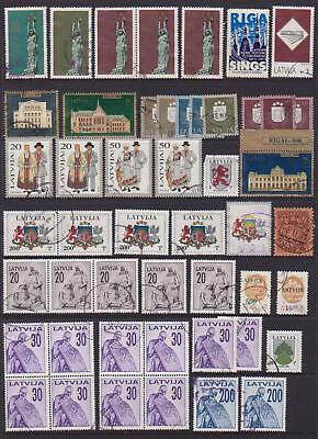 Latvia Collection Of (49) Stamps Vfu Cv.£33.00