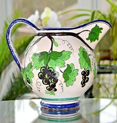 Antique Piediiluco Pottery Pitcher Rare Italy Vintage Faience