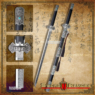 Traditional Hand Forged Chinese Full Tang Dao Sword Decorative Dragon Scabbard