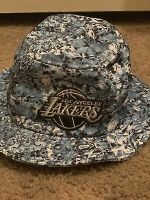 e2f3a7a2974 Adidas Los Angeles Lakers Nba Basketball Mens Summertime Bucket hat Size S M