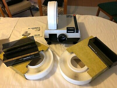 Hanimex Rondette 1500A Slide Projector with 3 carousels and 3 magazines!