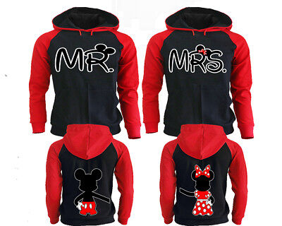 Mickey Minnie Couple Hoodies - King And Queen Hoodies - Matching Couple Hoodies