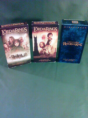 Lord of the Rings VHS Trilogy w/Return of the King Special Extended VHS Edition!