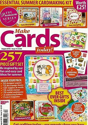 Make Cards Today  Magazine Issue 14. August  2018  Free Bumper Cardmaking Kit
