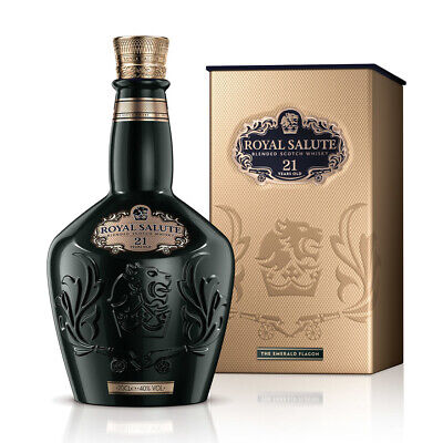 Chivas Regal Royal Salute 21 Year Old Whisky - Emerald Flagon