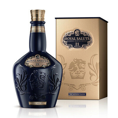 Chivas Regal Royal Salute 21 Year Old Whisky - Sapphire Flagon