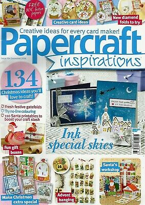 Papercraft Inspirations  Magazine Issue 184   December 2018.  No Free  Gift