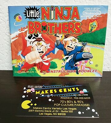Nintendo Nes 1990 - Little Ninja Brothers Manual Instruction Booklet Only Rare