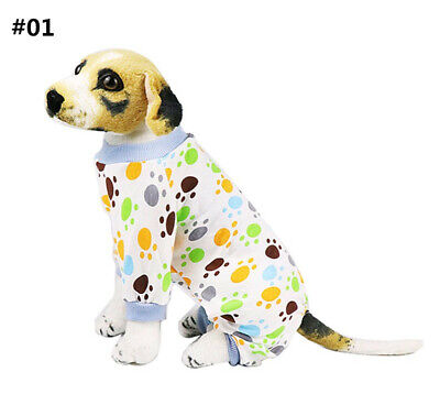 Pet Dog Pajamas Puppy Coat Jumpsuit Apparel Cotton Romper Sleepwear Clothes 553