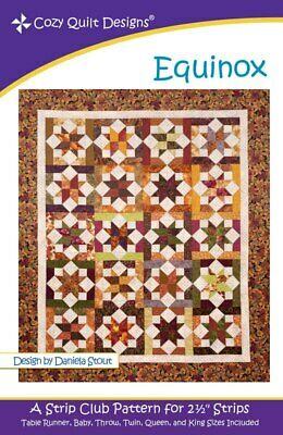 Equinox Quilt Pattern By Cozy Quilt Design 2.5 Inch Strips Quilting Sewing