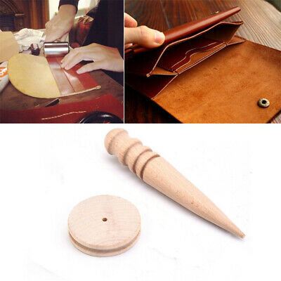 Slicker Polished Rod Wooden Leather Craft Tool Edge Trimmer Round Wood