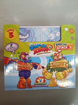 Super zings rivals of kaboom series 3 box of 8 SUPERBOT+ SUPERZINGS
