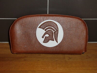 Brown/ White Trojan Scooter Back Rest Cover (Purse Style)
