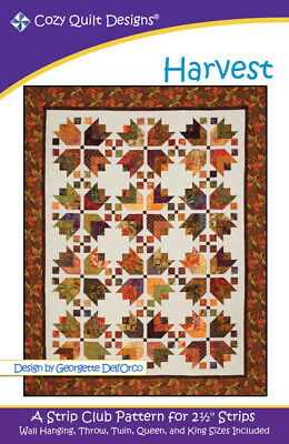 Harvest Quilt Pattern By Cozy Quilt Designs 2.5 Inch Strips Quilting Sewing