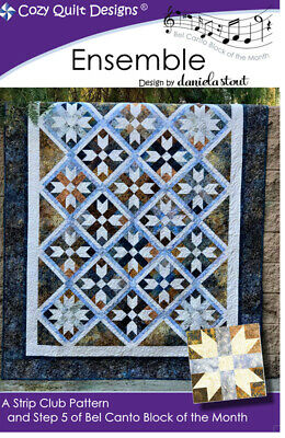 Ensemble Quilt Pattern By Cozy Quilt Designs 2.5 Inch Strips Quilting Sewing