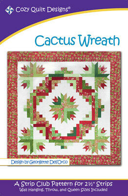 Cactus Wreath Quilt Pattern By Cozy Quilt Designs