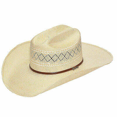 9042e092a31 RESISTOL RODEO COWBOY 7X Straw Hat Wide Brim Tall Crown Natural ...